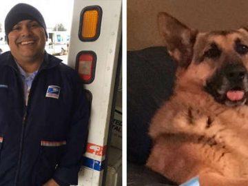 Carteiro cumpre último desejo de cachorra falecida que conhecera em sua rota pela cidade