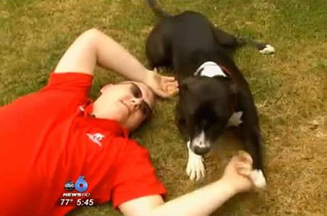 Cãozinho salva dono após usar smartphone e ligar para a emergência