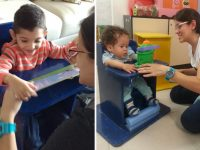 fisioterapeuta cria adequador postural baixo custo crianças doenças congênitas