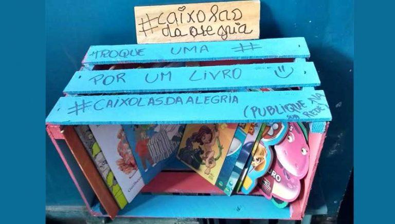 grupo distribui caixas livros infantis zona norte rio de janeiro