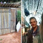 pai constrói casinha bambu filha estudar emociona