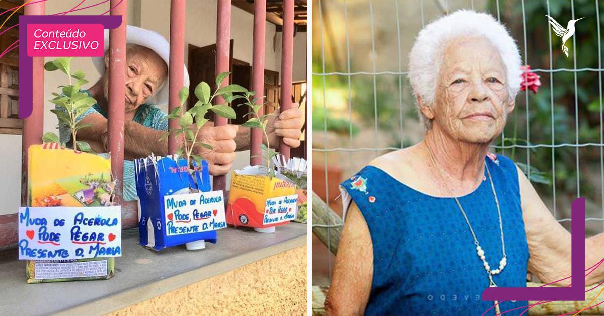 """Senhora com Parkinson doa mudas de acerola e encanta vizinhos: """"Acerolas do Amor"""" 1"""