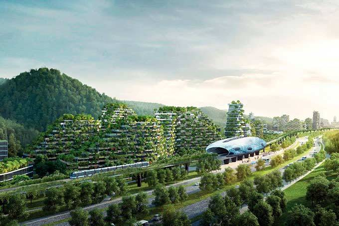 China está construindo uma cidade totalmente coberta por plantas e árvores 1