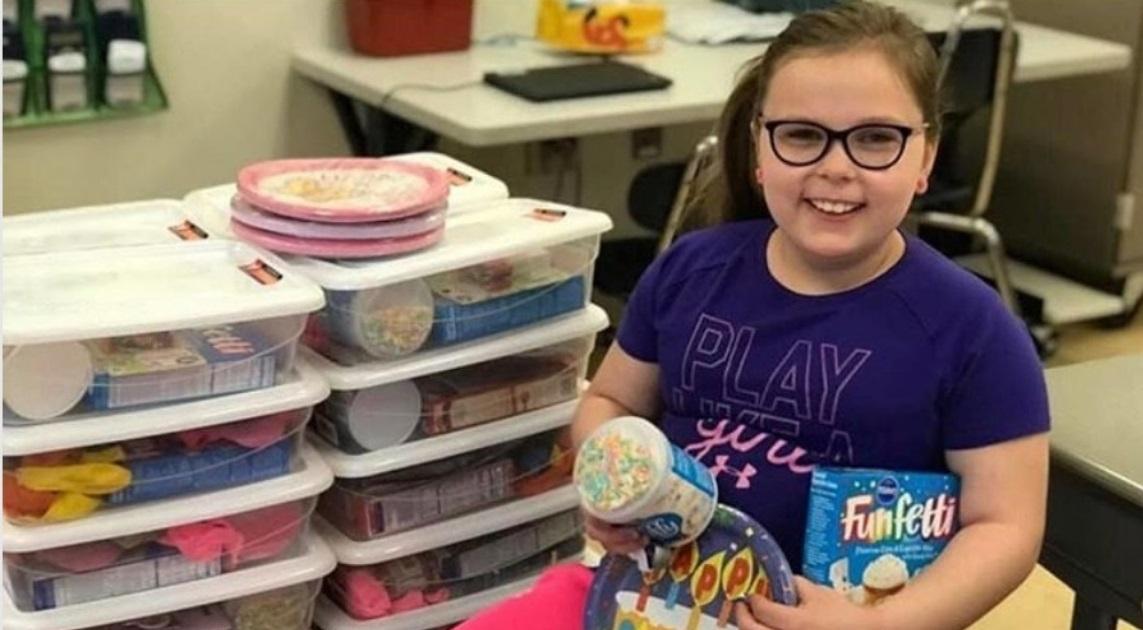 Menina de 9 anos ajuda crianças carentes a se sentirem especiais em seu aniversário