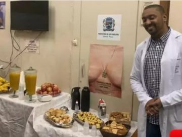 médico surpreende pacientes café da manhã lanche