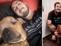 Jovem adota cachorro com câncer para dar a ele um lar em seus últimos dias