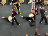 Motivado pelos colegas, garoto consegue quebrar tábua de madeira em vídeo emocionante