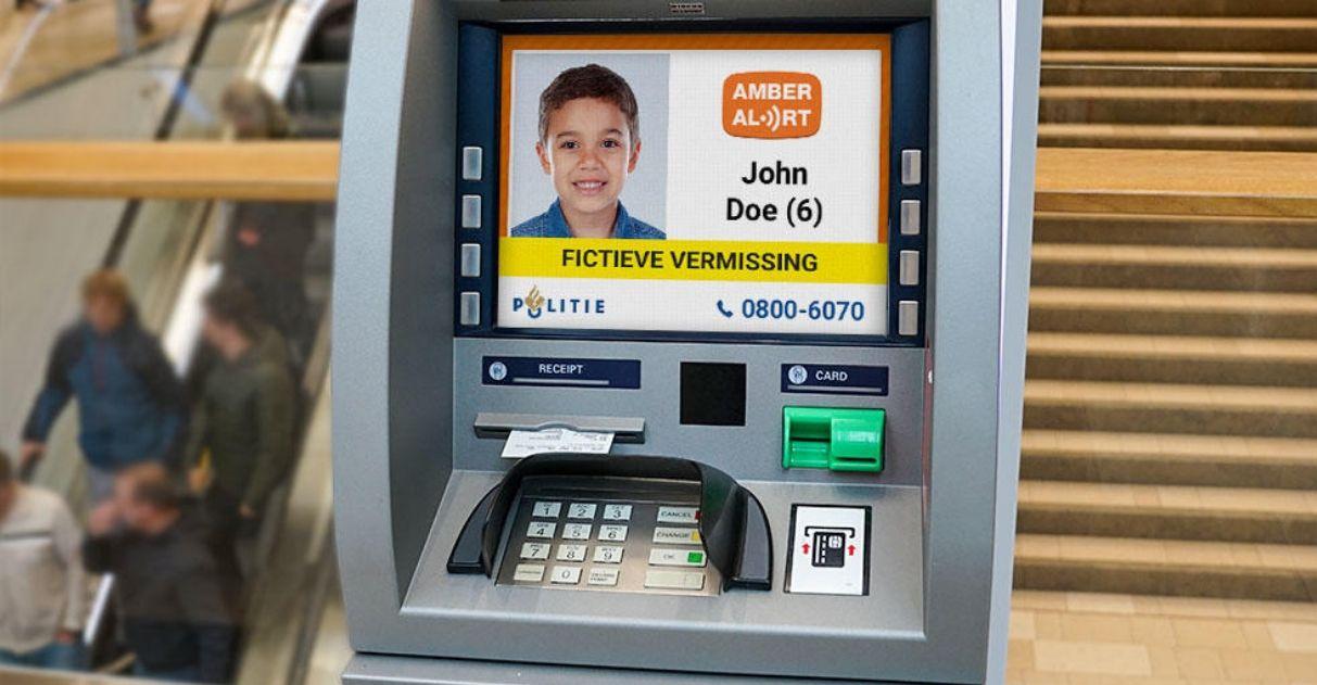 Holanda se torna primeiro país a mostrar crianças desaparecidas em caixas eletrônicos