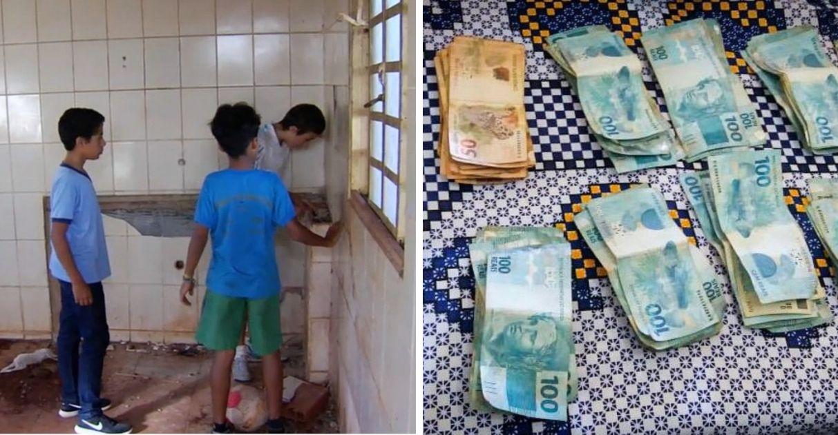Garotos acham R$ 12 mil em prédio abandonado e entregam à polícia