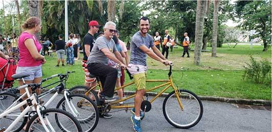 projeto pedala junto deficientes visuais bicicleta