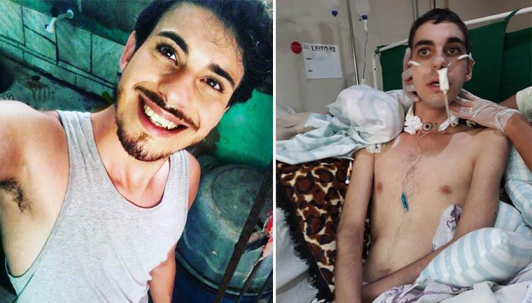 jovem vítima homofobia ajudado desconhecidos