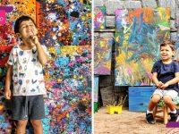 menino autista supera obstáculos pintura