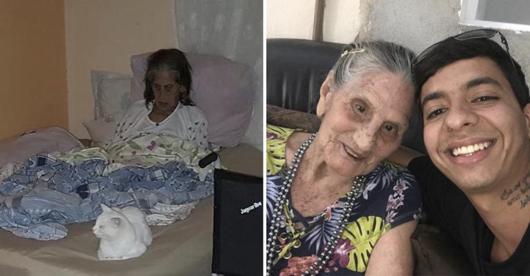 Protetor de animais 'resgata' idosa que vivia em condições insalubres e a leva para própria casa 1