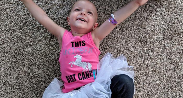 menina 2 anos vence câncer ovário