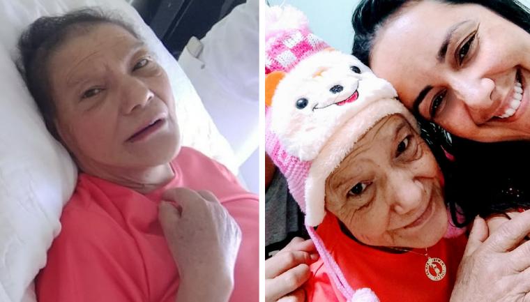 técnica de enfermagem adota idosa câncer