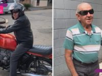 motociclista 85 anos surpreende donos loja vitalidade lucidez