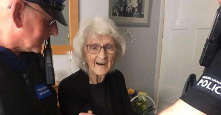 Idosa de 93 anos tem como último desejo ser presa pela polícia após uma vida sendo 'bonzinha'