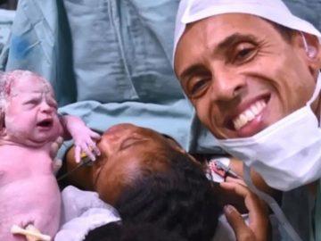 Com ajuda de intérprete de libras, pais surdos acompanham parto em Catanduva (SP)