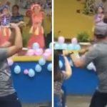 Pai dança 'hula' para ajudar filha de 6 anos com medo do palco