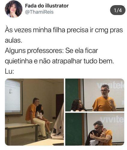 professor inclui nome filha aluna chamada