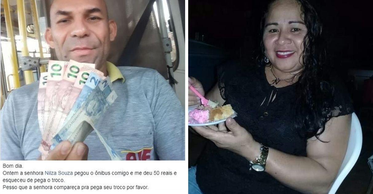 Motorista encontra pelo Facebook mulher que esqueceu troco em ônibus no AC