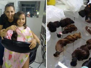 Dona de salão de beleza doa peças de cabelo para o Hospital do Câncer de Goiás