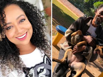 ex chiquitita Aretha Oliveiramobiliza internet ajudar morador de rua cachorrinha vaquinha bate meta menos 24h