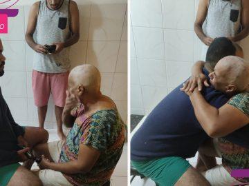 filho raspa cabeca apoiar mae cancer mama emociona