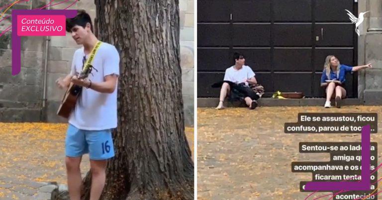 Brasileira vê cantor de rua ser humilhado em Barcelona e lidera apoio nas redes sociais 1