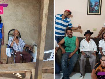 vizinhos constroem casa idosos viviam precariamente