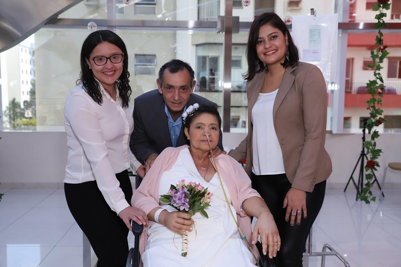 hospital casamento paciente câncer estágio terminal