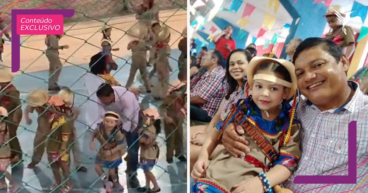 pai danca filha tem paralisia cerebral festa junina emociona