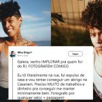 fotógrafo gay expulso casa consegue trabalho história viralizar