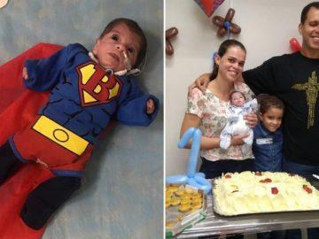 Equipe de hospital faz festa de 1 ano para bebê prematura que nunca saiu do hospital