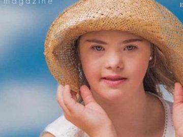 Modelo brasileira com síndrome de Down estampa capa de revista na Austrália