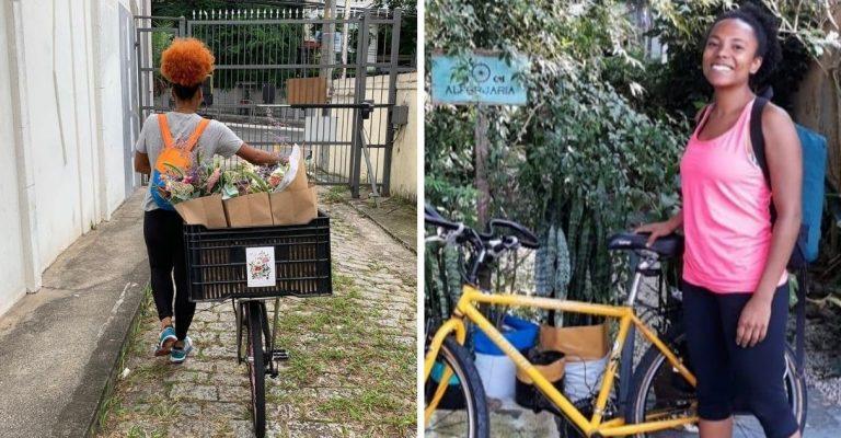 Mulher cria sistema de entrega com bicicletas para mulheres e transexuais