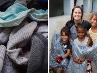 """Projeto """"Meias do Bem"""" transforma meias velhas em cobertores para pessoas carentes"""