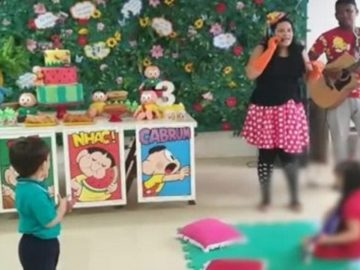 Mãe faz festa de 3 anos para filho em hospital do câncer em Teresina (PI)