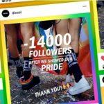 Grife italiana Diesel perde 14 mil seguidores após apoio a LGBTs - e comemora