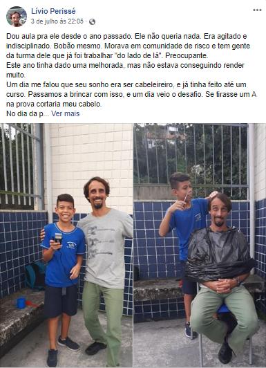 professor faz aposta com aluno corte de cabelo dez prova cumpre prometido publicacao viraliza redes sociais