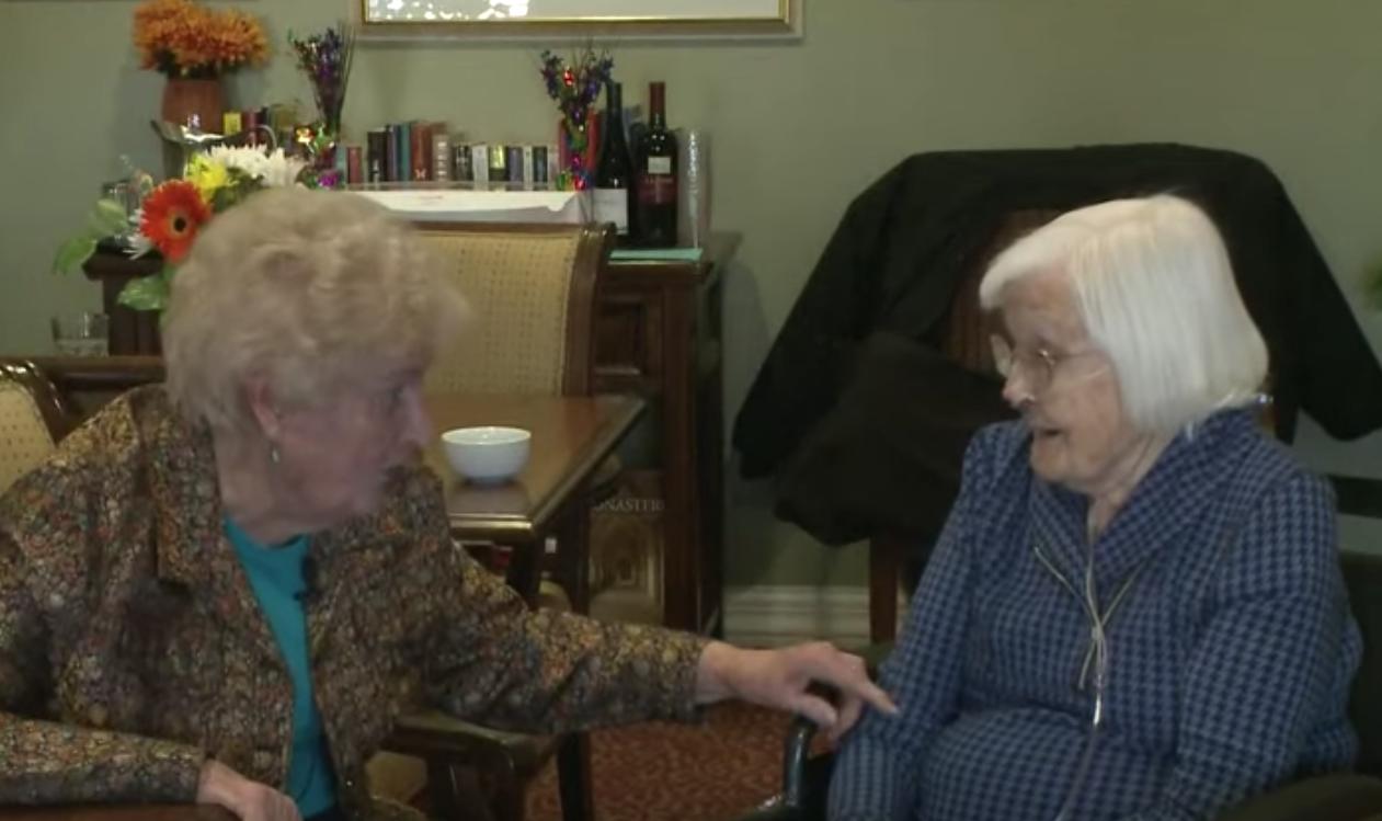 Idosas de 95 anos comemoram 84 anos de amizade com festa