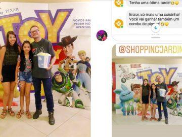 família ganha ingressos toy story 4 shopping