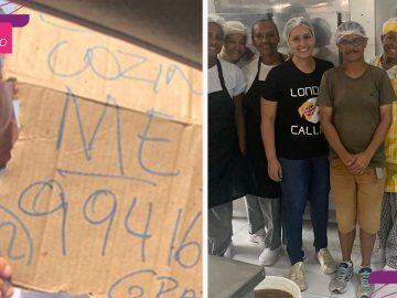 casa bolos contrata venezuelano pedia emprego cartaz ruas