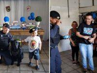 Menino autista ganha festa com cão policial e emociona a Guarda Municipal de Jundiaí (SP) 10