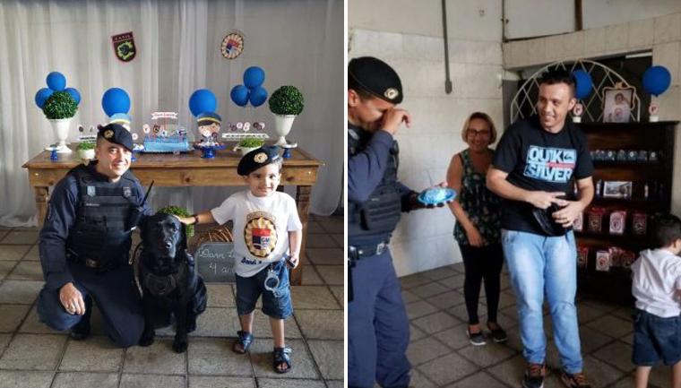Menino autista ganha festa com cão policial e emociona a Guarda Municipal de Jundiaí (SP) 1