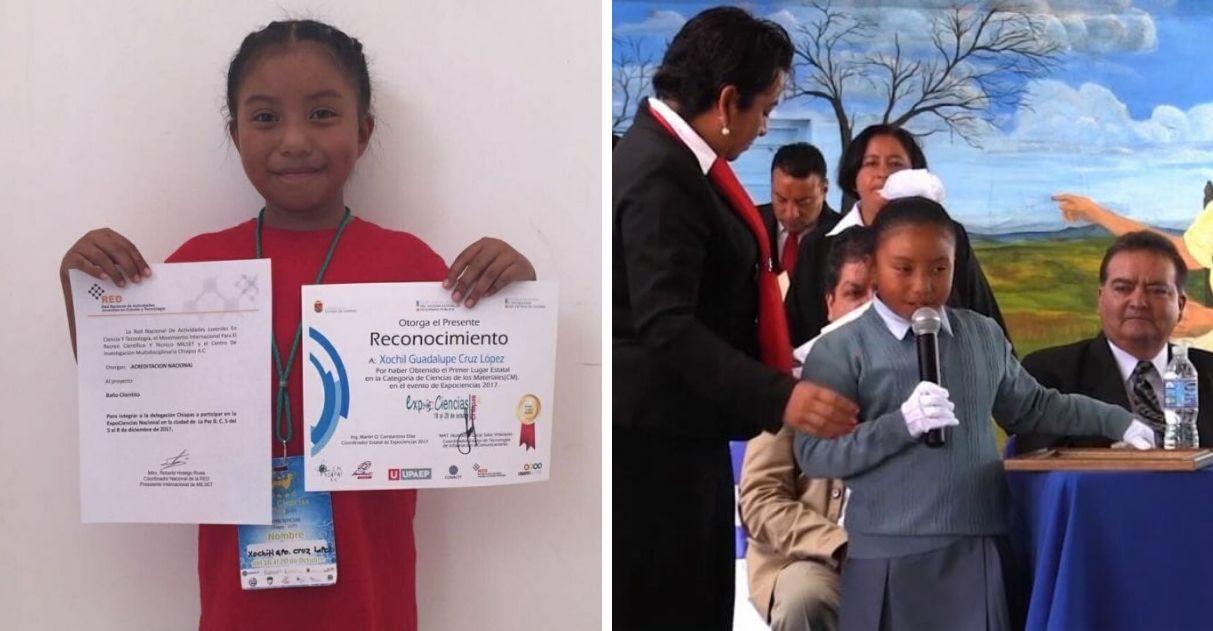 menina ganha prêmio invenção aquecedor solar reciclado