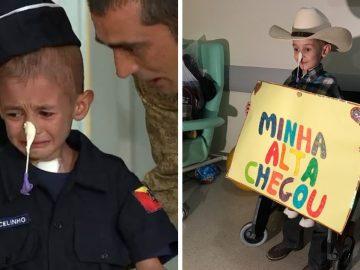 Desenganado pelos médicos, menino com leucemia chora ao receber alta 2