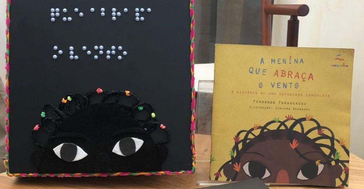 Livro infantil sobre refúgio ganha edição artesanal em braile com ilustrações táteis