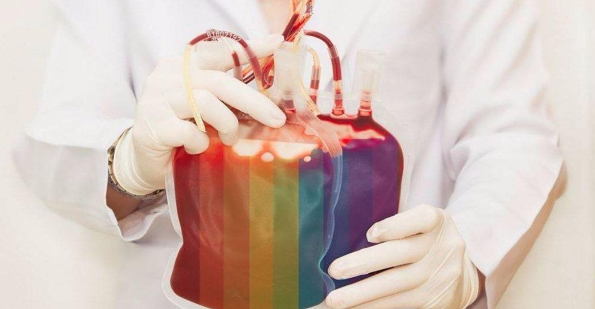 bolsa de doação de sangue cores lgbt