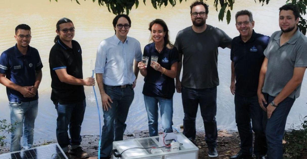 Professores purificador portátil água locais remotos